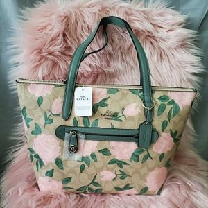 Coach Camo Rose Floral Printed Taylor Tote